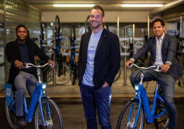 Trotse Blauwvingers met goed nieuws verhaal over mobiliteit, milieu en leefstijl